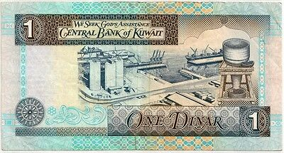 KUWAIT ND LAW #32 of 1968 1 DINAR BANK NOTE in a Protective Sleeve