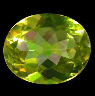 3.67 cts Natural Oval-cut Pleochroic Yellow IF Topaz (Africa)