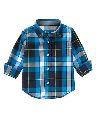 Gymboree Plaid Oxford Long Sleeve Shirt 3T NWT