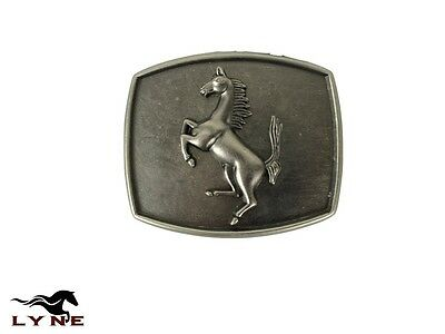 Leather Belt Mens GENUINE Quality Trophy Buckle Western Cowboy Country Horses
