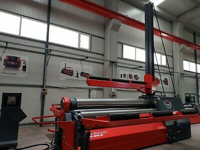 """New RMT 10'2"""" x 5/8"""" Hydraulic 4 Roll Plate Roll with CNC Control"""