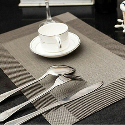 Beauty Restaurant Dining Square Textilene Dinnerware Table Mat Placemat 3colors