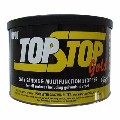 U-pol TOP STOP GOLD Extra Smooth Stopper 1.1L UPOL  all surfaces inc. galvanised
