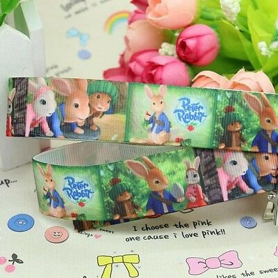 NEW Peter Rabbit 7/8 Inch Grossgrain Ribbon - One Metre - Craft or Cake