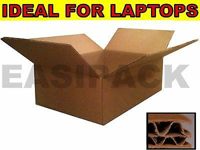 "DOUBLE WALL Heavy Duty Strong Laptop Postal Mail Cardboard Boxes 19""x14""x6"""