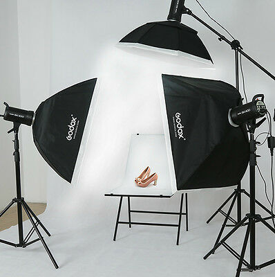 GODOX 3*400W 1200ws Kits A Pro Photo Studio Strobe Flash Lighting 220V