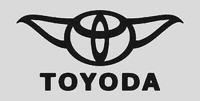 Star Wars Toyoda black sticker. Decal for car or computer