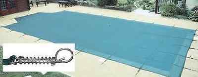16 x 32ft Premium Winter Debris Cover Swimming Pool with 5ft Roman End + Fixings