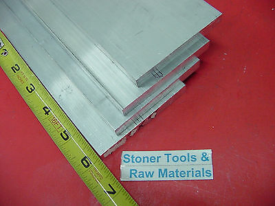 """4 pieces 1/4"""" X 3-1/2"""" ALUMINUM 6061 FLAT BAR 6"""" long T6 Solid Plate Mill Stock"""