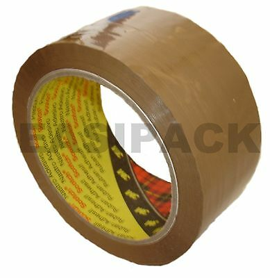 "144 rolls (4 Boxes) x 3M 'BUFF' Scotch packing 371 parcel 2"" tape 48mm x 66M"