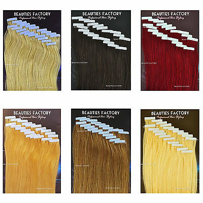 BF Tape In Skin Weft 100% Remy Human Hair Extensions Hair 20Inch 20Pcs NEW