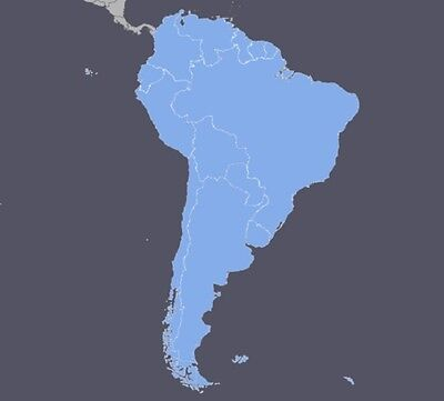 South America GPS Map 2017.20 for Garmin Devices