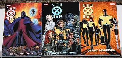 Marvel The New X-Men COMPLETE TPB SET Volumes 1-3 FULL Morrison Run UNREAD