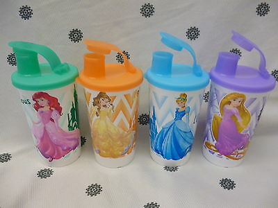 Tupperware 330ml Disney Princess Tumblers Cups with Seals New!