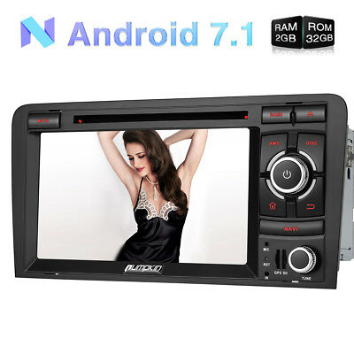 Autoradio DVD Player Für Audi A3 Android 5.1 GPS Navi Dual Zone DAB+ 3G Wifi BT