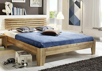 doppelbett bett 160x200 wildeiche eiche holz massiv ge lt neu ovp eur 549 00 picclick de. Black Bedroom Furniture Sets. Home Design Ideas