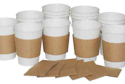 12/16oz Coffee Cup Clutch (125) Hot Cup Sleeves, Takeaway, Shop Disposables