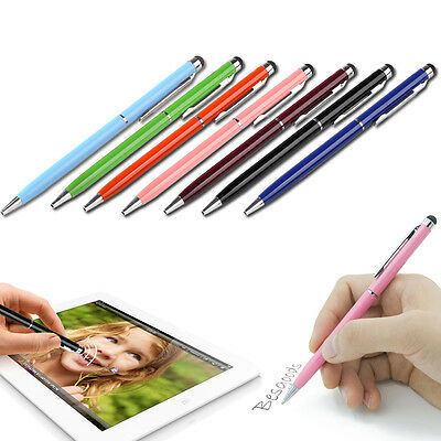 10x Stylus Touchpen Eingabestift Ball Pen Metall Smartphone Tablet iphone ipad