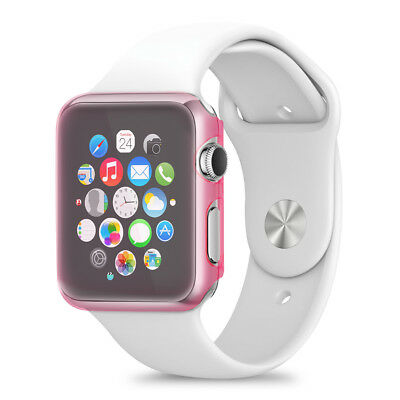 kwmobile COQUE DURE CRYSTAL POUR APPLE WATCH 38MM (SERIES 1) ROSE FONCÉ