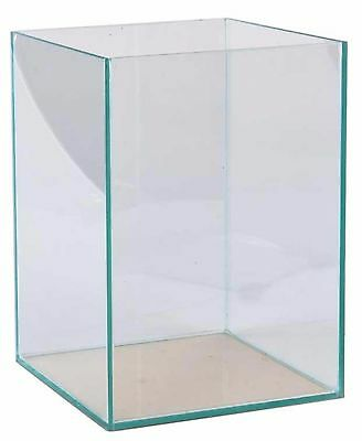 Aquarium 30x30x40cm Würfel Quadrat Cube Becken Glasbecken transparent verklebt