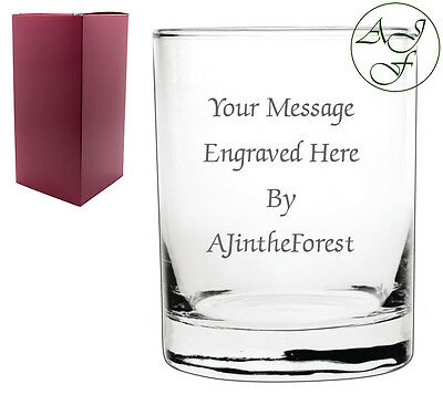 Personalised Engraved Whisky Whiskey Spirit Glass Tumbler Birthday Wedding
