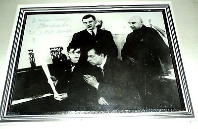 DMITRI SHOSTAKOVICH: A SIGNIFICANT PHOTOGRAPH INSCRIBED & SIGNED by SHOSTAKOVICH