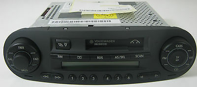 Genuine Vw New Beetle Gamma Cassette Radio Stereo With Red Illumination