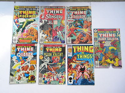Vintage Marvel Comics Group - The Thing - Two in Ones - Lot of 7