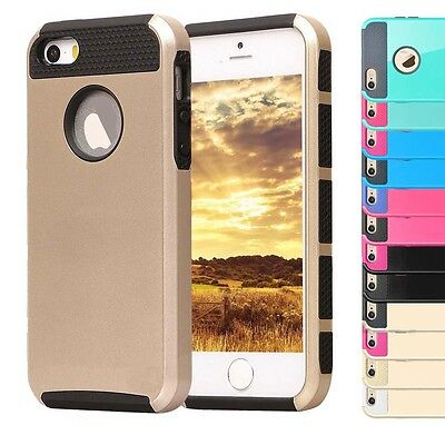 New Hard PC Hybrid Rubber Shockproof Cover Case Skin for Apple iPhone 5 S/6 Plus