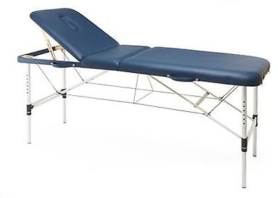 Metron Professional Portable Couch Blue,Carry Case,Aluminium Frame,Fold Away