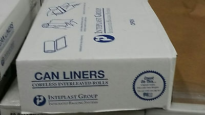 60 gallon Can Liners-Clear coreless interleaved rolls 38x60