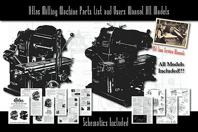 Atlas Milling Machine All Models Service Manual Parts Lists Schematics