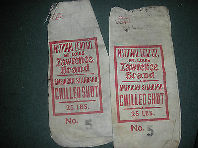 Vintage National Lead Co. Set Of 2 Lawrence Brand American Standard 25Lbs. No.5