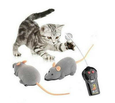 3 Colors Novelty Funny RC Wireless Remote Control Rat Mouse Toy For Cat Dog Pet