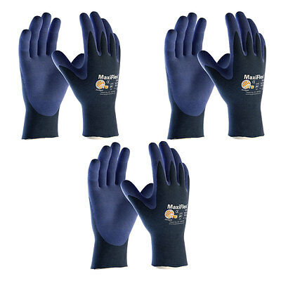 3 Pack MaxiFlex® Ultimate Elite 34-274 Nitrile Grip Gloves Sizes XS-XXL