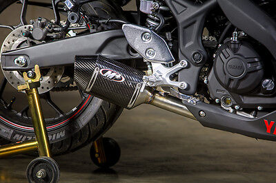 M4 Exhaust Yamaha R3 2015 16 Street Slayer Carbon Fiber Slip On