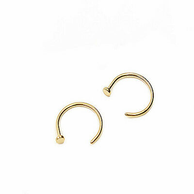 Hot Jewelry Stainless Steel Nose Open Hoop Ring Earring Body Piercing Studs 20G
