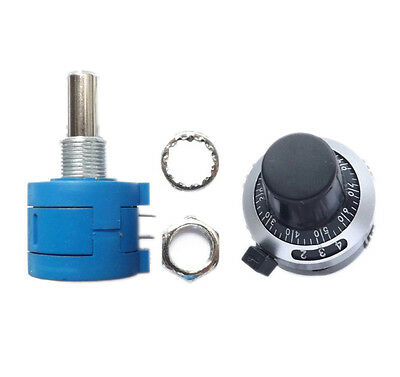 New 5K Ohm 3590S-2-502L Potentiometer With 10 Turn Counting Dial Rotary Knob
