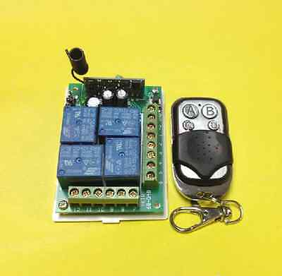 DC12V 4 Channel RF Wireless Remotes And Relay Receiver Modules 315MHz
