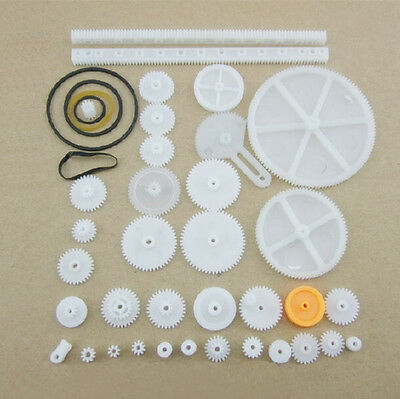 34 Kinds Plastic Shaft Rack Reduction Worm Gears Belt Pulley DIY For Robot