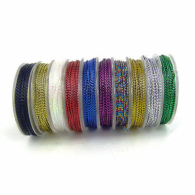 10 X 10m  Christmas macrame Card Craft Gift Cord  String  0.8mm gift tag thread