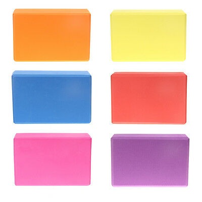 Colors Pilates Yoga Block Foaming Foam Brick Exercise Fitness Stretching Aid Gym