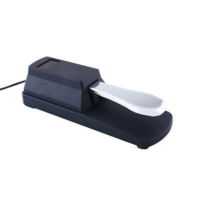 Sustain Pedal Foot Switch Silver&Black For Electronic Casio Piano Keyboard New