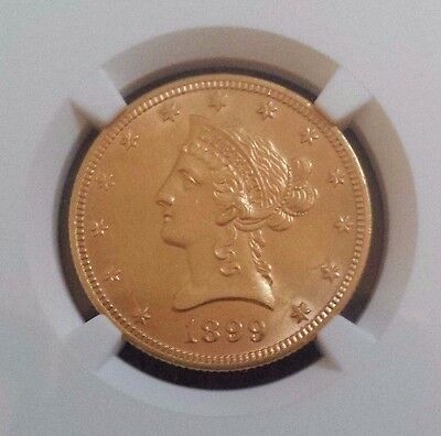 Great 1899 $10 Gold Eagle Coin - NGC Certified!