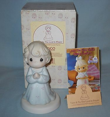 1995 Porcelain Precious Moments, 163767, Take It To The Lord In Prayer With Box