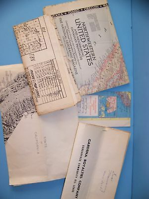 Lot 06 5Ct Maps And Royalties Circa 1950's