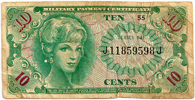 (MPC) MILITARY PAYMENT CERTIFICATE (1965-68) SERIES 641  (10 cents) in a sleeve