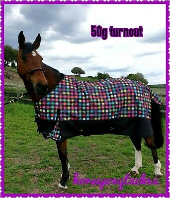 200G Medium Weight Combo Turnout Rug With Neck All Sizes  Horse Or Pony