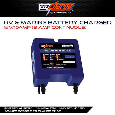 Oz Charge 12V / 10A 8A Continuous RV & Marine battery charger Redarc Projecta