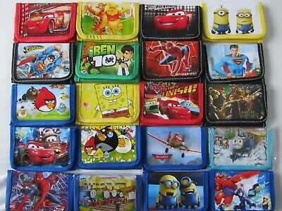 Kids Wallets Boys Girls NEW Cartoon Purse Coin Wallet Various Designs